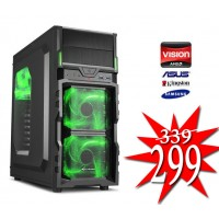 Budget Game PC / AMD A6-9500 / 4GB / 1TB / RADEON R5 / HDMI
