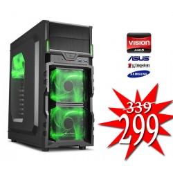 Budget Game PC / AMD A6-9500 / 4GB / 1TB / RADEON R5 / HDMI