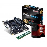 Upgrade Set GigaByte 78LMT-USB3 / AMD QuadCore FX-4300/ 8GB