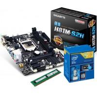 ComputerGalaxy Upgrade Set GigaByte H81M-S2H / Intel G1840 / 4GB